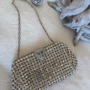 Vintage  Crystals Evening  Mini- bag